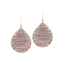 Load image into Gallery viewer, Grey Crystal Beaded Drop Earring JE055