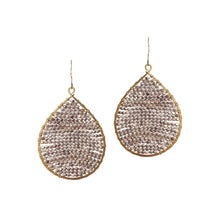 Load image into Gallery viewer, Two Tone Silver Gold Beaded Drop Earring JE058