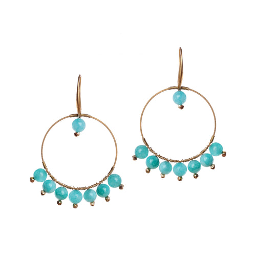 Glory Blue Stone Earring JE042