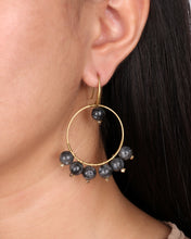 Load image into Gallery viewer, Glory Black Stone Earring JE039