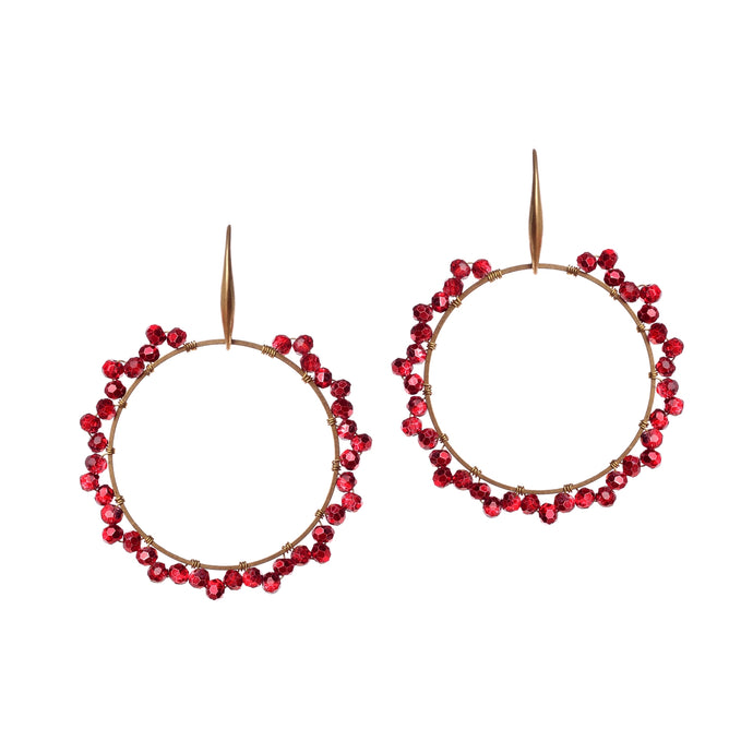 Flowery Fusion Red Earring JE035