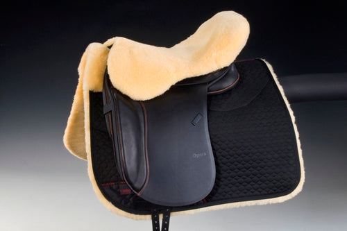Horsedream sheepskin seat saver for English saddles - Natural