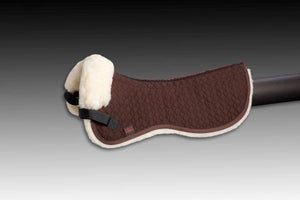 Horse Dream Sheepskin Half Pad with spinal canal free of sheepskin