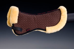 Horse Dream UK sheepskin half pad with border