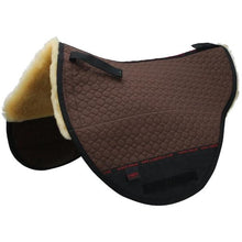 Load image into Gallery viewer, Christ Lammfelle Treeless Saddle pad half lined with genuine 100% Merino Lambskin. Suitable for Treeless saddles and Cloud Special Bareback pads