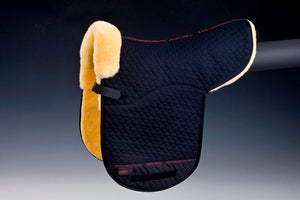 Horse Dream Merino Sheepskin Dressage Numnah. Fully lined Black/natural Christ Lammfelle Lambskin