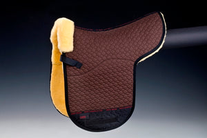 Horse Dream Merino Sheepskin Dressage Numnah. Fully lined Brown/natural Christ Lammfelle Lambskin