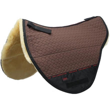 Load image into Gallery viewer, Treeless Sheepskin Saddle pad fully lined with genuine 100% Merino Lambskin. Suitable for Treeless saddles and Cloud Special Bareback pads