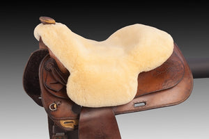 Horsedream sheepskin seat saver for Western saddles - Natural XL