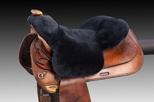 Horsedream sheepskin seat saver for Western saddles - Charcoal XL