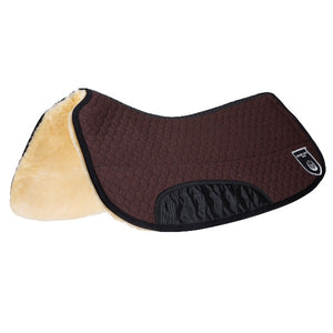Werner Christ Lammfelle Genuine Sheepskin Western Saddle Pad for Roundskirt Western Saddles.