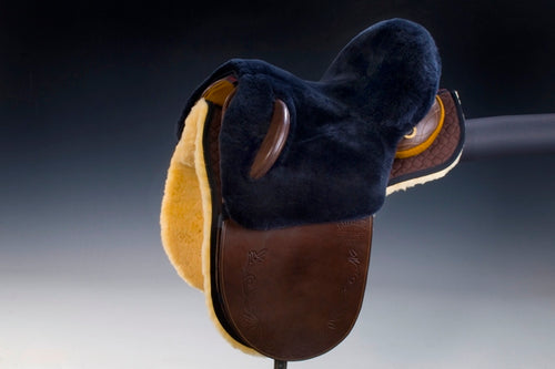 Horsedream sheepskin seat saver for Australian stock saddles - Charcoal
