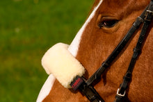 Load image into Gallery viewer, Horsedream Sheepskin Noseband Cover