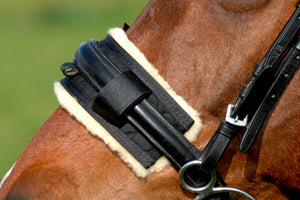 Horsedream Sheepskin Show Noseband Covers