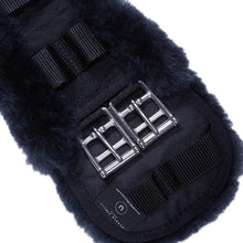Load image into Gallery viewer, Sheepskin Dressage girth - Classic Straight edged - Black/charcoal