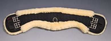 Horse Dream UK Sheepskin Dressage girth - Half Moon. Manufactured by Christ Lammfelle