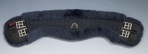 Horse Dream UK Sheepskin Dressage girth - Shaped to fit your horse. Fully lined with genuine Merino Lambskin. Manufactured by Christ Lammfelle
