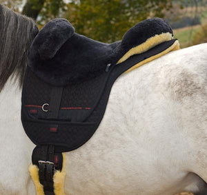 Horse Dream UK Bareback Riding Pad - Premium PLUS with matching Numnah and Girth - manufactured by Christ Lammfelle