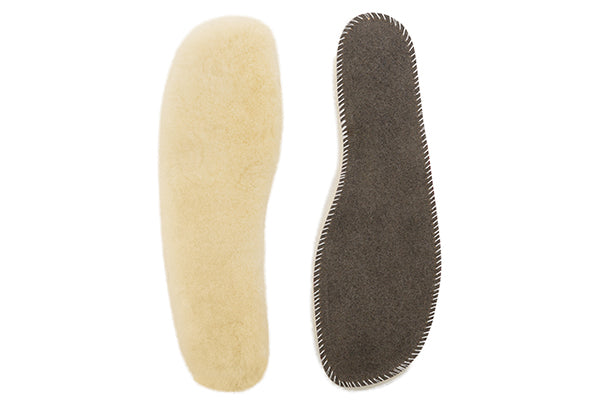 Sheepskin Insoles made from 100% Medical Grade Merino Lambskin. Shock absorbing and temperature balancing