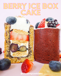 Berry Ice Box Cake Shot