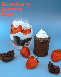 A Delightful, Light + Airy Strawberry Brownie Cup Recipe