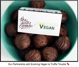 Our Vegan Truffles Teaming with Evolving Vegan & Mena Massoud