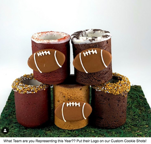SuperBowl Spirit: Represent your Team with a Kicka** Viewing Party and Custom Cookie Shots to Hype Things Up!