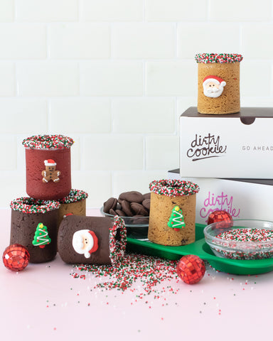 Christmas cookies, decorating cookies for holidays, gingerbread house