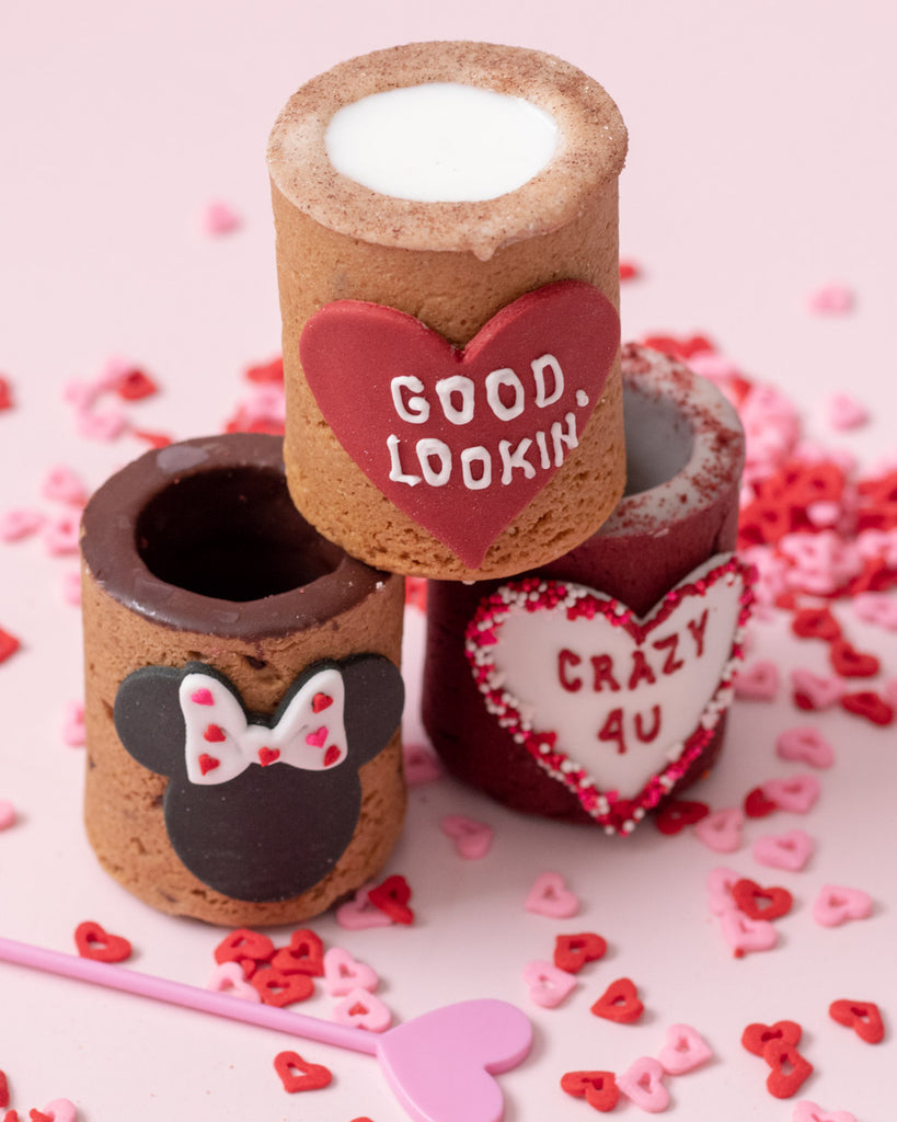 valentine's gift ideas, unique valentine's day shots, perfect valentine's day gifts, cookie cups, cookie shots, customized cookies valentine