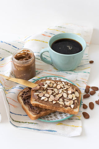 cookie butter spread, coffee, toast, nutella, chocolate chip, fruit dip,