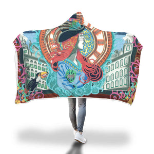Steampunk Toucan Hooded Blanket