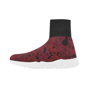 Burgundy Vintage Gothic men's sock shoe