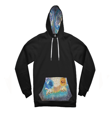 Galaxy Mother Nature Burst Contrast Unisex Hoodie