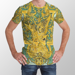 Angel Gold All Over Print Unisex T-shirt