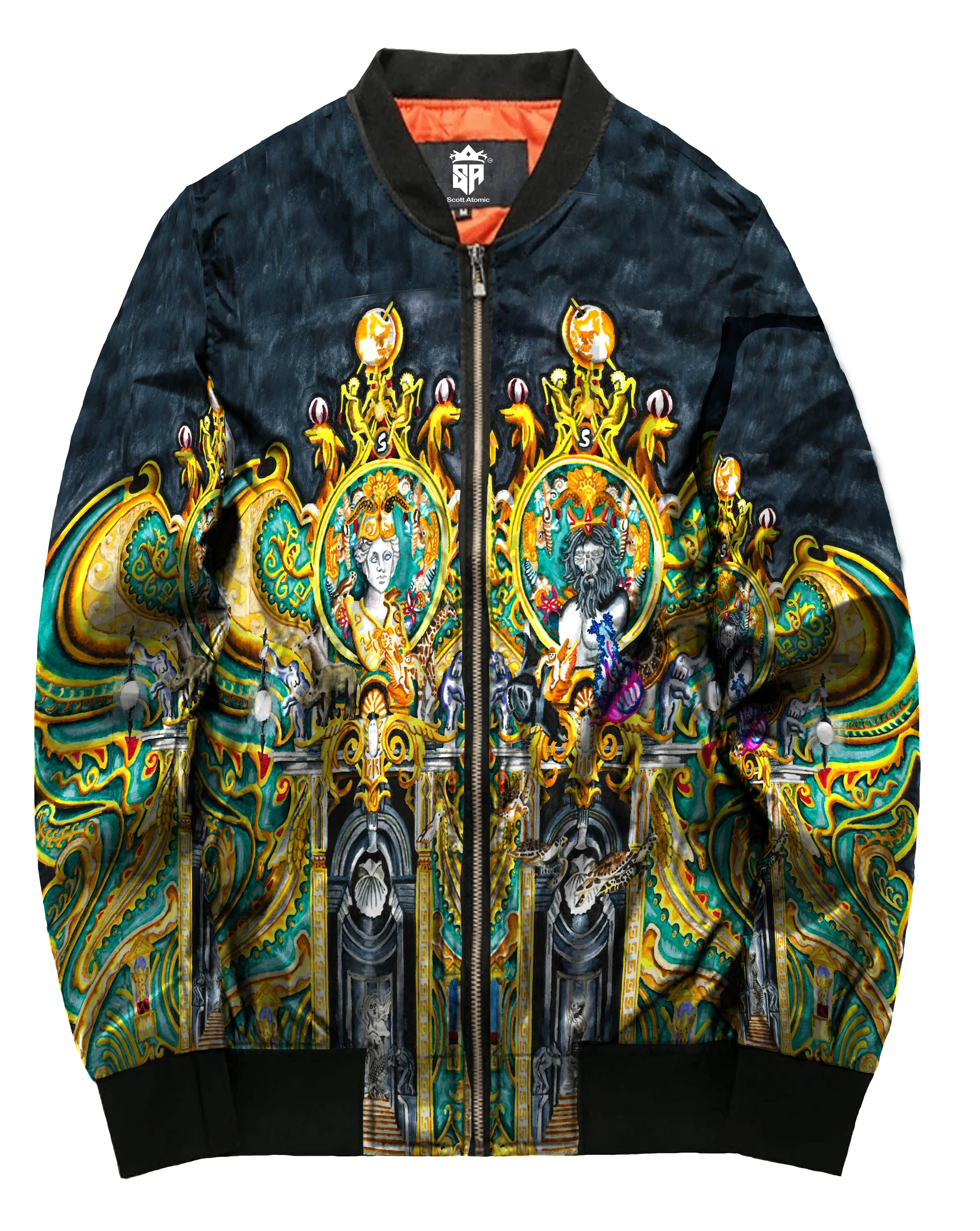 Olympian Mythology Unisex Bomber Jacket