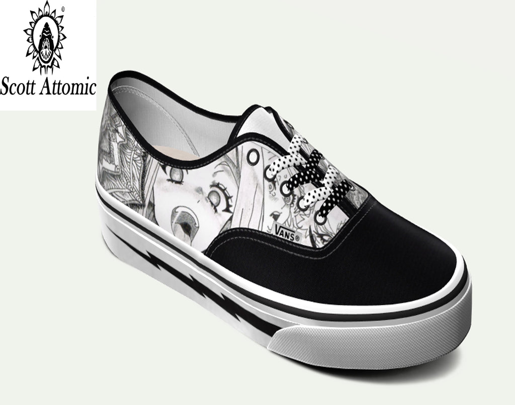 Casual Hentai All Over Print Canvas Shoes