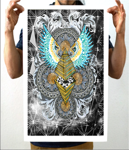 Pyramid Dimensional Capsule Artwork Print