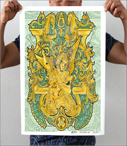 Angel Gold Artwork Print