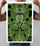 Emerald Green Vintage Gothic  Artwork Print