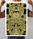 Gold Vintage Gothic Artwork Print