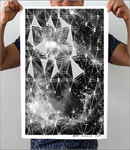 Gray Galaxy Artwork Print