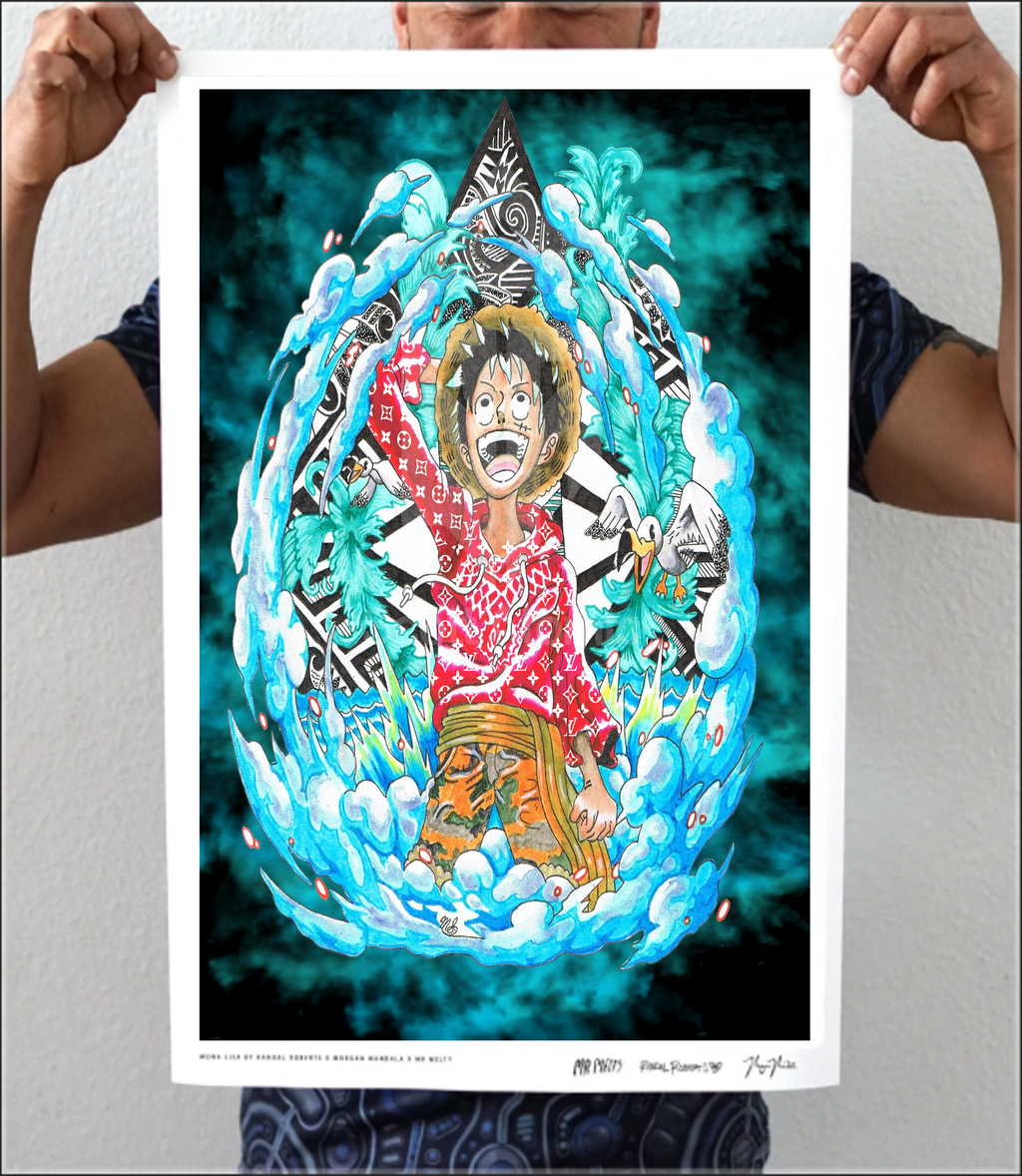 Scott Atomic Luffy Artwork Print
