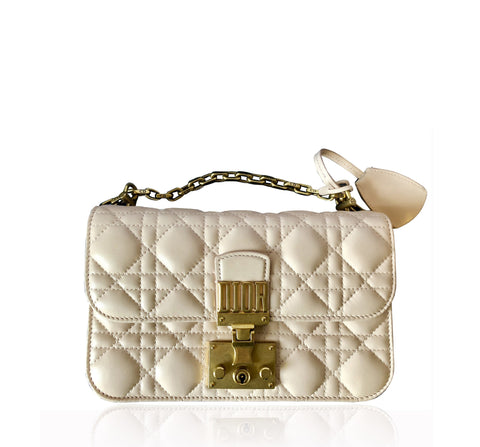 Dior Dioraddict Small Flap Bag in Powder Pink Lambskin