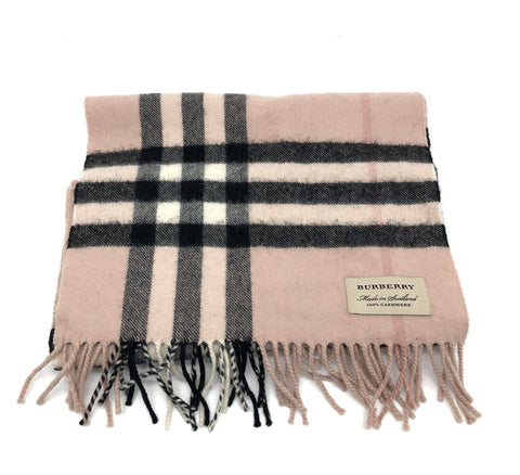 Burberry Reversible Metallic Check Cashmere Scarf