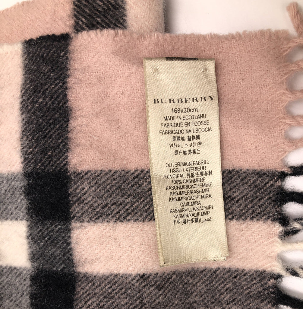 Reversible Metallic Check Cashmere Scarf