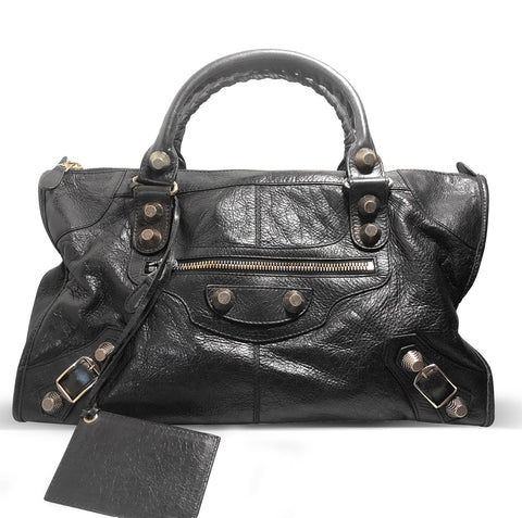 Gaint 21 Work Leather Tote with Classic Studs