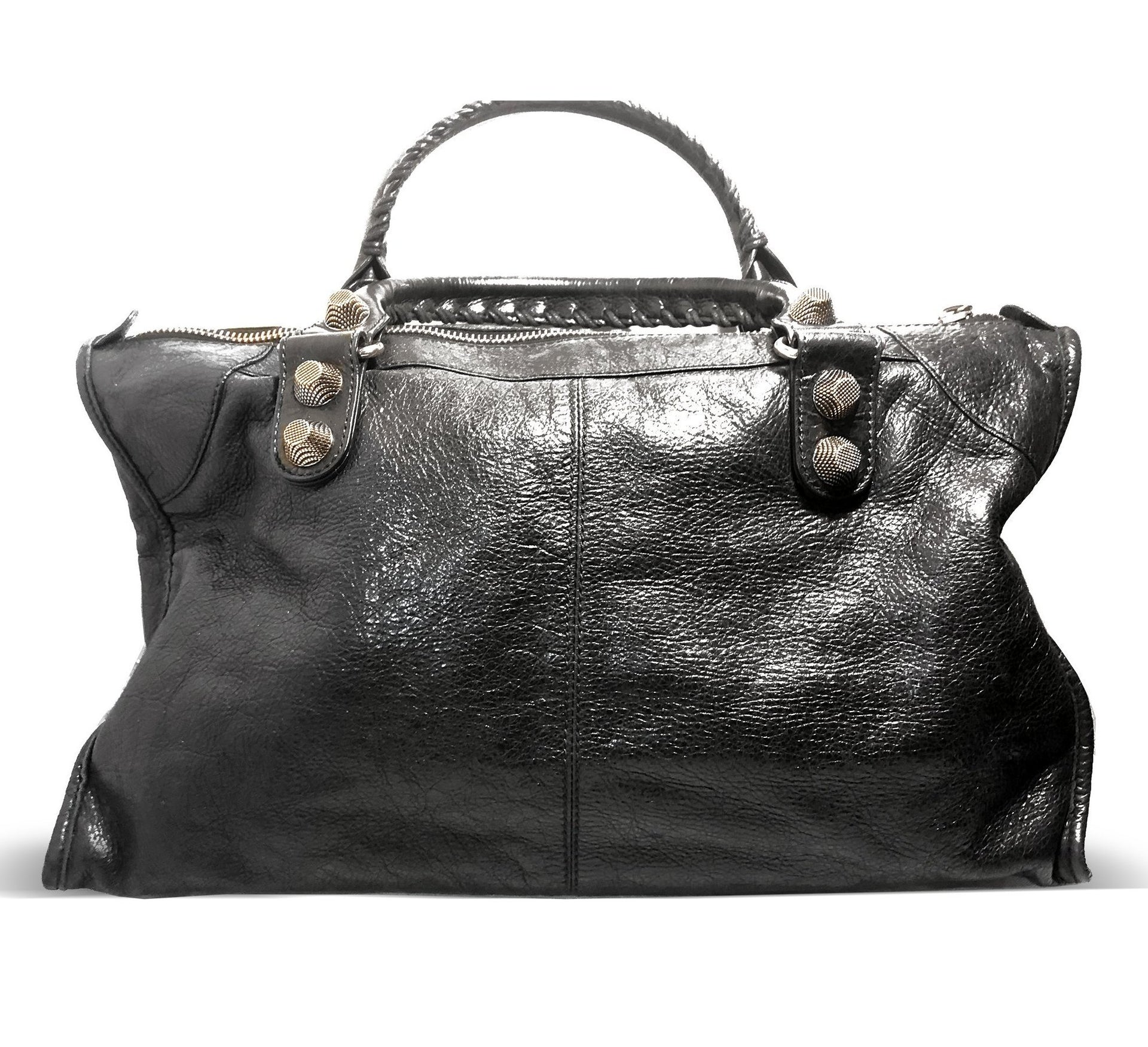 Balenciaga Gaint 21 Work Leather Tote with Classic Studs