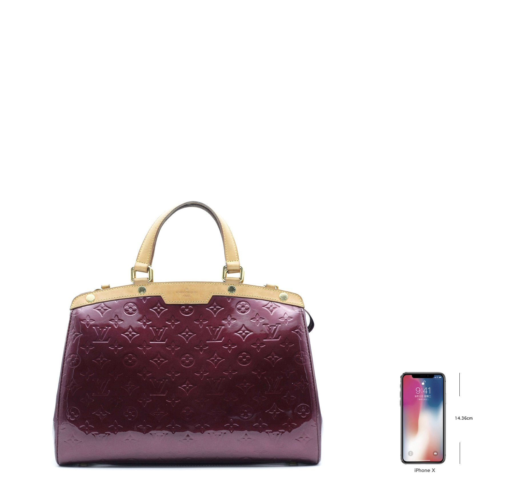 Amarante Monogram Vernis Brea GM Bag