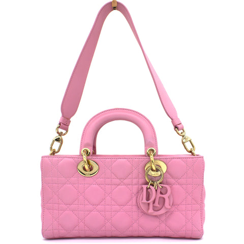 Pink Quilted Leather Runway Bag