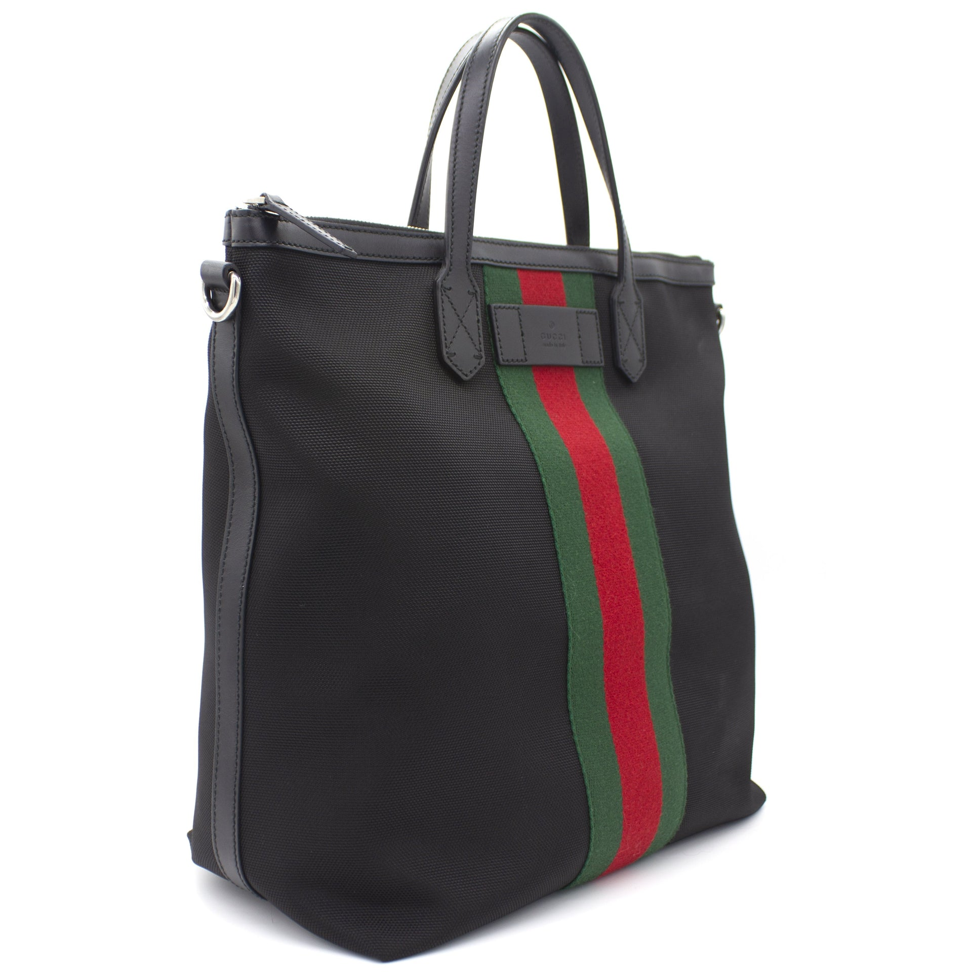 Techno Canvas Web Tote Bag Black